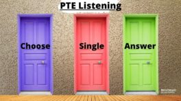 pte listening multiple choice single answer