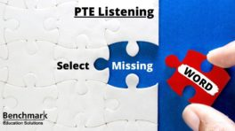 PTE Listening Select Missing Word Questions
